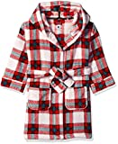 Petit Lem Kids' Little Holiday Unisex Hooded Robe, Comfy, Cute and Cozy Softness, red, 2