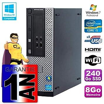 Dell PC 3010 SFF Intel I5-3470 - Ordenador de sobremesa (Memoria ...