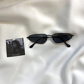 VVIIYJ Concave Rimmed Triangulos Gafas de sol Metal Gafas de ...