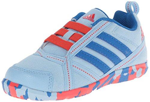 adidas Performance Natweb I Slip On Shoe (Toddler), Clear Sky/Royal/Red, 7.5 M US Toddler