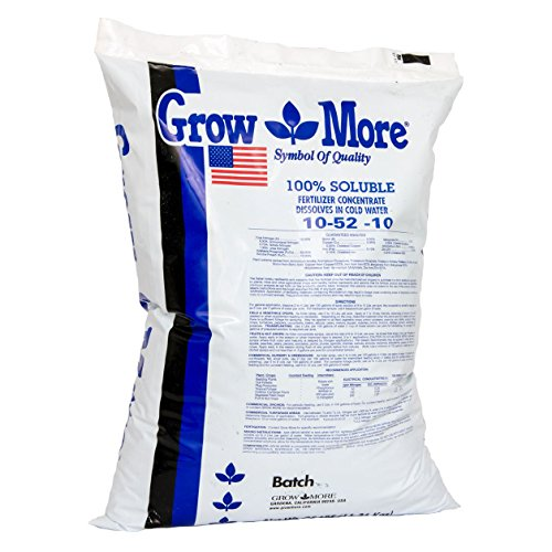 - Grow More 5556 Water Soluble Fertilizer 10-52-10, 25-Pound
