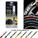 Tire Ink Paint Pen para el coche Neumáticos Permanente y resistente 5colores, Rojo