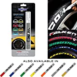 Tire Ink   Paint Pen for Car Tires   Permanent and Waterproof   Carwash Safe (Purple, 1 Pen)