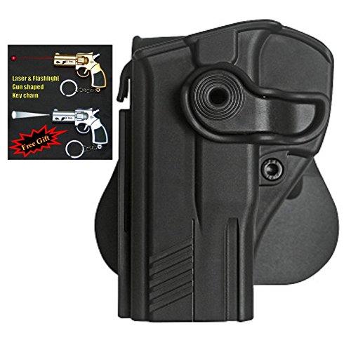 IMI-Z1200 LH - Retention Roto Holster for Taurus 24/7 G2 Pistols + Laser & Flashlight Gun Shaped Key Chain. ()