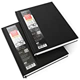 ARTEZA 8.5x11'' Hardbound Sketchbook, Set of 2 Heavyweight Hard Cover Sketch Journals, 110 Sheets Each, 68lb/110gsm, Perfect for Drawing, Sketching, and Journaling