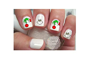 Cute Christmas Nails.Amazon Com Cute Christmas Nail Decal Nail Art Fingernail