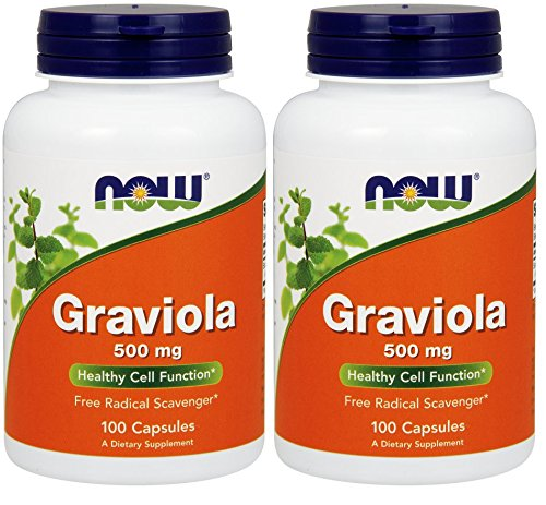 NOW Foods Graviola (100 Vcaps Pack of 2)