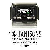 Family Return Address Stamp, Self Inking, Wedding Stamp, Personalized, Black Ink