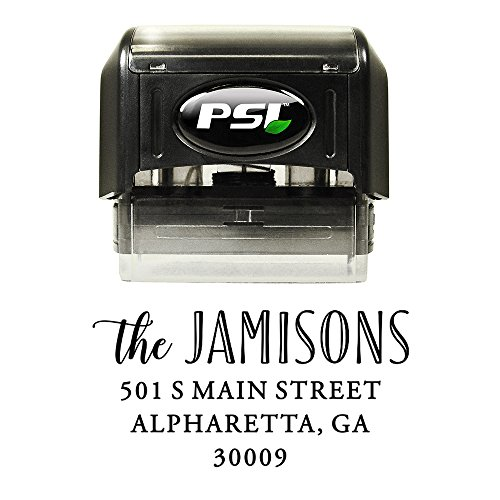 Family Stamps (Family Return Address Stamp, Self Inking, Wedding Stamp, Personalized, Black Ink)