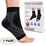 Plantar Fasciitis Socks, Ankle Brace Compression Support Sleeves & Arch Support, Foot Compression Sleeves, Ease Swelling, Achilles Tendonitis, Heel Spurs for Men & Women -L/XL