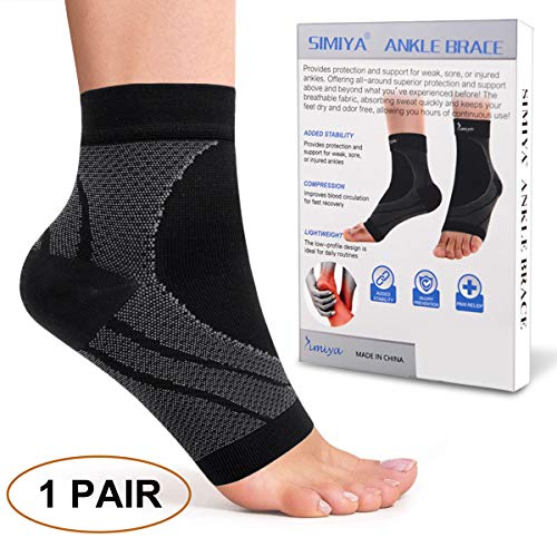 Basketball,Volleyball,Eases Swelling,Relieve Pain,Heel Spurs,Achilles Tendon Too Goods L Ankle Support Brace Breathable Ankle Guard Sports Compression Support Sleeve for Men /& Women Sprained Ankle,Running