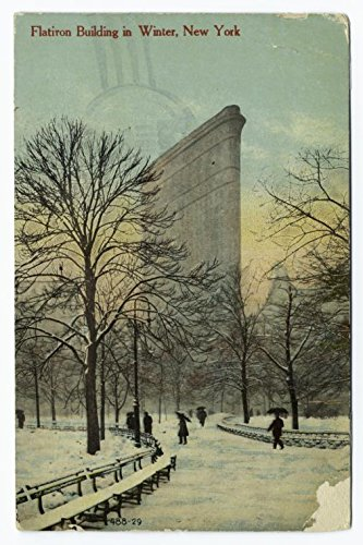 Flatiron Building in winter, New York, 1911 |Historic Postcards | Vintage Antique Poster Reproduction (Flat Building Iron Postcard)
