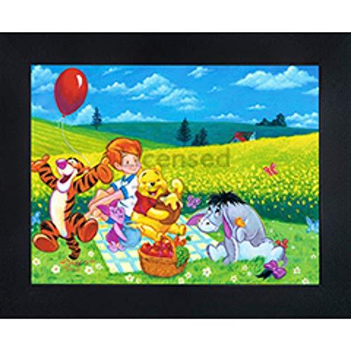 Winnie The Pooh 3D Poster Wall Art Decor Framed   14.5x18.5