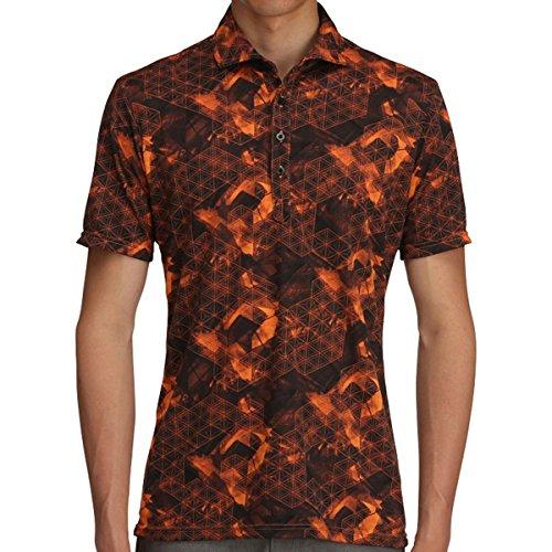 ミズノ MIZUNO 半袖シャツ?ポロシャツ ソーラーカット 半袖シャツ 52MA7012 オレンジクラウンフィッシュ 54 XL