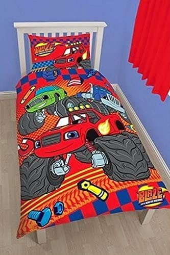 Character World Blaze And The Monster Machines Single Duvet Cover Bedroom Bed Set Amazon Co Uk Kitchen Home