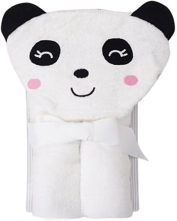 Blanc Panda 28.74 x 35.43 CuteOn B/éb/é 100/% Coton Serviette de bain Doux Encapuchonn/é Serviette pour Nouveau n/ée Bambin et Des gamins