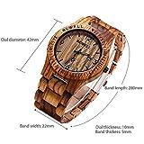 GBlife Bewell ZS - W086B Mens Wooden Watch Analog Quartz Lightweight Handmade Wood Wrist Watch