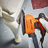 VonHaus Electric Mouse Detail Sheet Sander with 14000 RPM, 6 Sanding Sheets, Compact and Lightweight with Dust Extraction System and 6ft Power Cord for Hard to Reach Spots and Rest