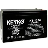Go - Ped ESR750 ESR750EX Electric Speed Racer Scooter Battery 12V 7ah Battery Fresh & REAL 7.2 Amp AGM/SLA Sealed Lead Acid Rechargeable Replacement Genuine KEYKO KT-1270 - F1/F2
