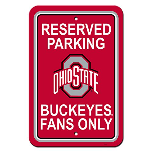 NCAA Official National Collegiate Athletic Association Fan Shop Authentic Parking Sign (Ohio State Buckeyes)