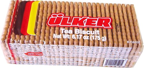 (Ulker Tea Biscuits (Petit Beurre) Turkish 175 gram package)