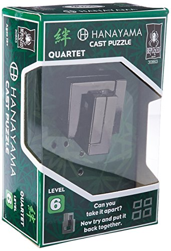 QUARTET Hanayama Cast Metal Brain Teaser Puzzle (Level 6)