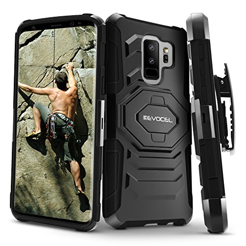 Galaxy S9 Plus Case, Evocel [New Generation] Rugged Holster Dual Layer Case [Kickstand] [Belt Swivel Clip] for Samsung Galaxy S9 Plus