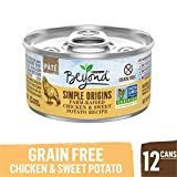 Purina Beyond Grain Free, Natural Pate Wet Cat Food, Simple Origins Chicken & Sweet Potato Recipe - (12) 3 oz. Cans Larger Image