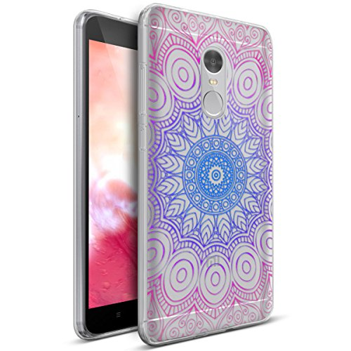 Price comparison product image Xiaomi Redmi Note 4 Case,Xiaomi Redmi Note 4 Cover,ikasus Art Painted Flowers Crystal Clear Slim Flexible Soft Rubber Gel TPU Protective Bumper Case Cover for Xiaomi Redmi Note 4,Indian Sun Flower