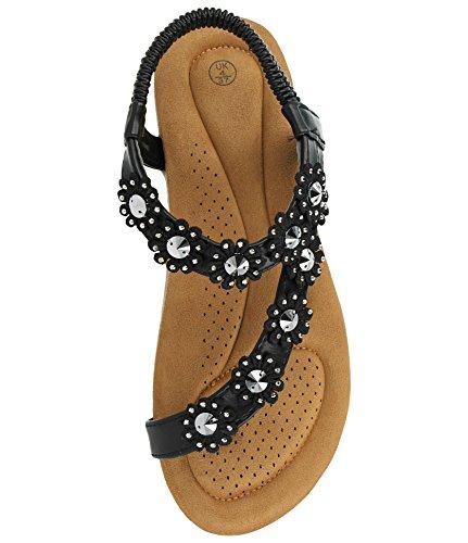 Foster Footwear Noir fille 2 femme Sandales FFq1xwrdS
