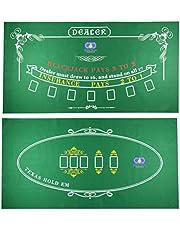 Tafelblad Casino Vilt Layout voor Texas Holdem Poker en Blackjack - Premium Professional Grade Blackjack en Poker Mat voor, Thema Party, Poker Nacht, Fundraisers & Bijeenkomsten