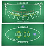 Tabletop Casino Felt Layout for Texas Holdem Poker and Blackjack - Premium Professional Grade Blackjack and Poker Mat for, Theme Party, Poker Night, Fundraisers & Gatherings