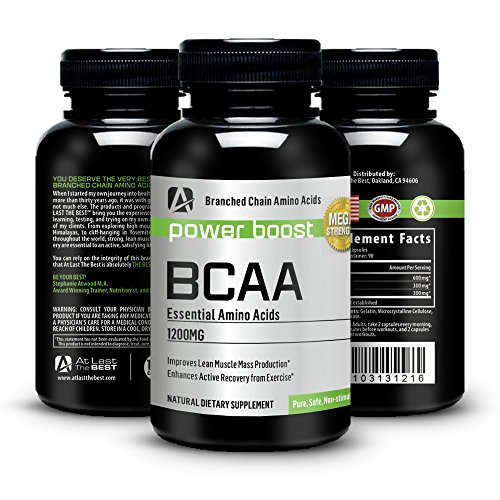 BCAA Branched Chain Amino Acids-At Last the Best 1200mg Capsules. Highest Quality, Outstanding Value -Guaranteed- Quick Recovery, Ultimate Energy, Stamina, Training, Fat Burning, Modern Supplement, Increased Metabolism At All Ages - All Natural