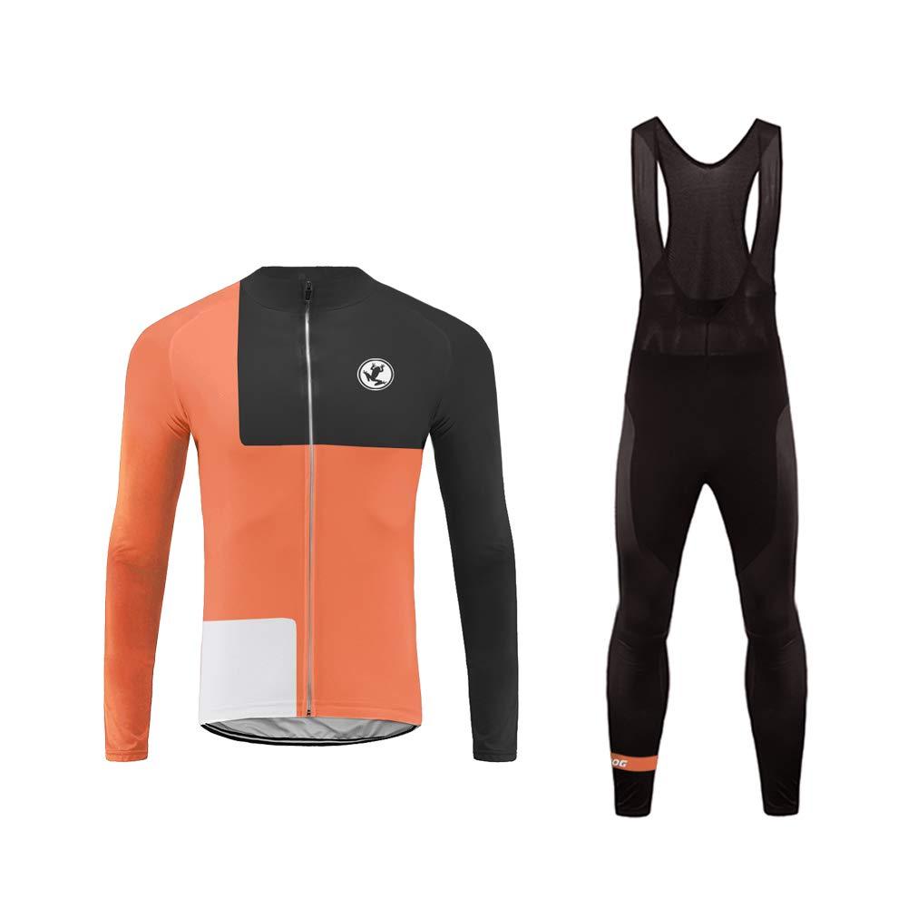 c636803f1d91 Uglyfrog Abbigliamento Ciclismo Set Winter Fleece Abbigliamento Sportivo  per Bicicletta Maglia e Pantaloni da Uomo Mantieni ...
