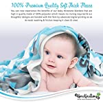 Baby-Monthly-Milestone-Blanket-for-Boys-Perfect-Newborn-Gifts-100-Quality-Soft-Fleece-Baby-Blanket-Large-Personalized-Elephant-Background-Newborn-Photography-Props-Blue