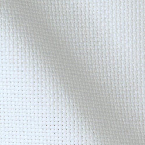 60'' Wide Aida Cloth White Fabric By The Yard