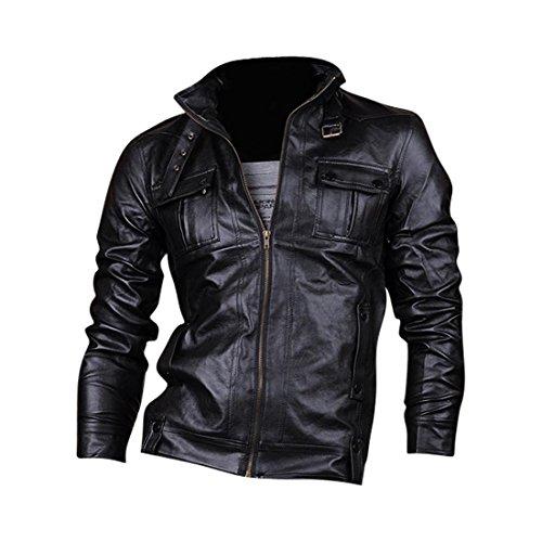 Cappotti Uomo Cappotto Tendenza 8910 Design Capispalla Jeansian Moda Black Pelle Giacca Inverno Uomini Sottile Di ZqUnwnxdF