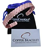 Twisted Copper Bracelet for Arthritis - GUARANTEED 99.9% PURE Copper Magnetic Bracelet For Men Women - 6 Powerful Magnets - Effective & Natural Relief Of Joint Pain, Arthritis, RSI, & Carpal Tunnel!