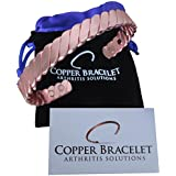 Copper Bracelet Twisted for Arthritis - Guaranteed 99.9% Pure Copper Magnetic Bracelet for Men Women - 6 Powerful Magnets - Effective & Natural Relief of Joint Pain, Arthritis, RSI, & Carpal Tunnel!