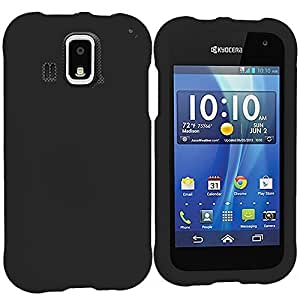 Accessory Planet(TM) Black Hard Snap-On Matte Rubberized Case Cover Accessory for Kyocera Hydro XTRM