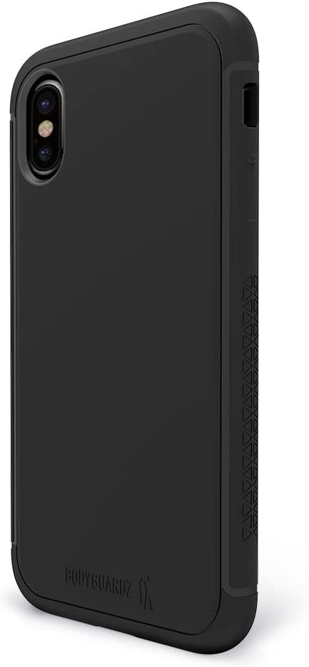 BodyGuardz - Shock Case for iPhone X/Xs, TPU Case with Impact-Absorbing Technology for Apple iPhone X/iPhone Xs(Black)