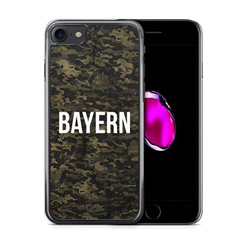 Bayern Camouflage - iPhone 7 Hülle Handyhülle Case Cover Schutzhülle Hardcase Schale | Coole Bedruckte Design Geile Deutschland München Militär Military Städte Hüllen