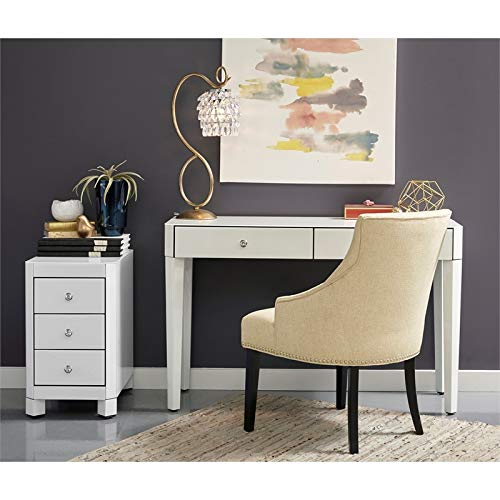 - Pulaski DS-D114-ACC-K1 Reverse Painted White Glass Desk
