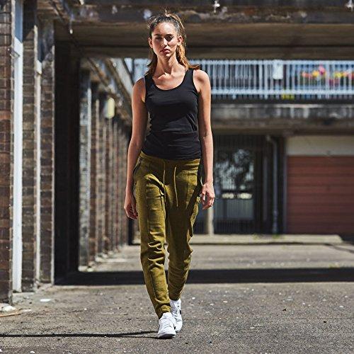 Nike W Nsw Tch Flc Pant Knt - Pantalón para mujer Verde (Olive Flak / Htr / Olive Flak / Negro)
