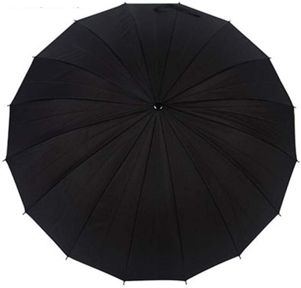 TtKj Folding Umbrella 16 Bone Rain Windproof Super-Large Straight Pole Business Umbrella 75100116cm