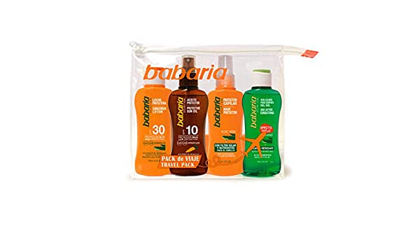 BABARIA pack protector solar spf 30 + after sun + aceite + capilar ...