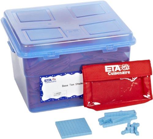 ETA hand2mind Blue Plastic Base Ten Blocks Student Bulk Kit by ETA hand2mind