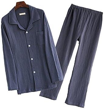 b1c8bc159a2dfb CMG (コモグッド) パジャマ メンズ 長袖 綿100 二重 ガーゼ 上下 セット M グレー