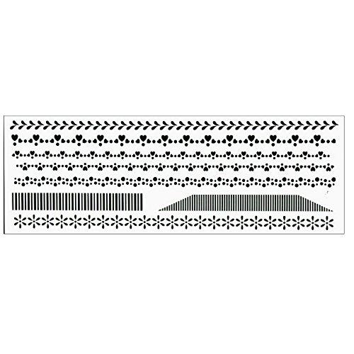 PM-5772 ステンシルシート 「ファンシーライン」 図案 トールペイント 材料