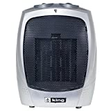 King Electric PH-2 1500-watt Portable Ceramic Heater, Silver by King Electric